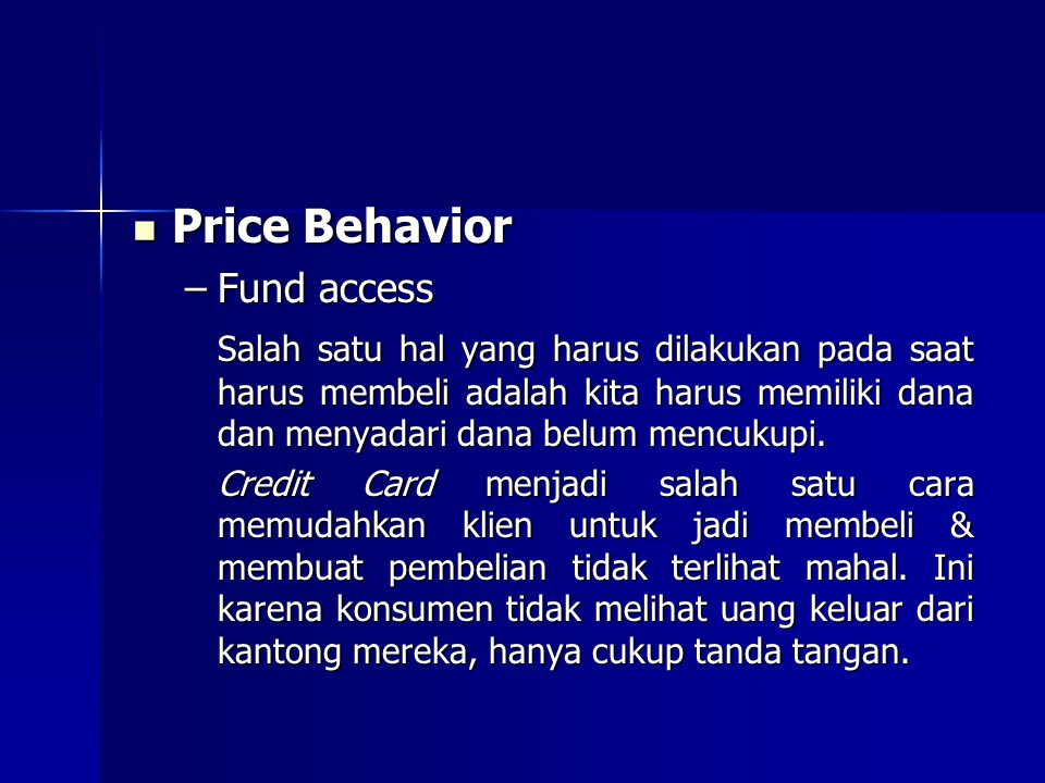 Price Behavior Fund access