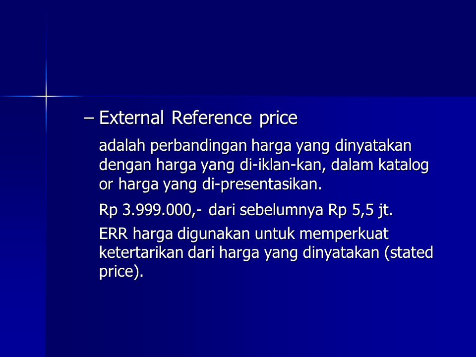 External Reference price