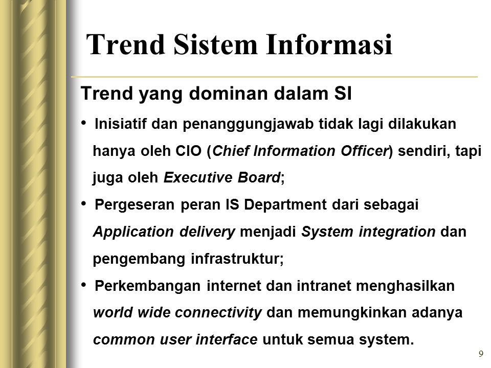 Trend Sistem Informasi