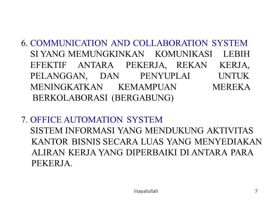 6. COMMUNICATION AND COLLABORATION SYSTEM