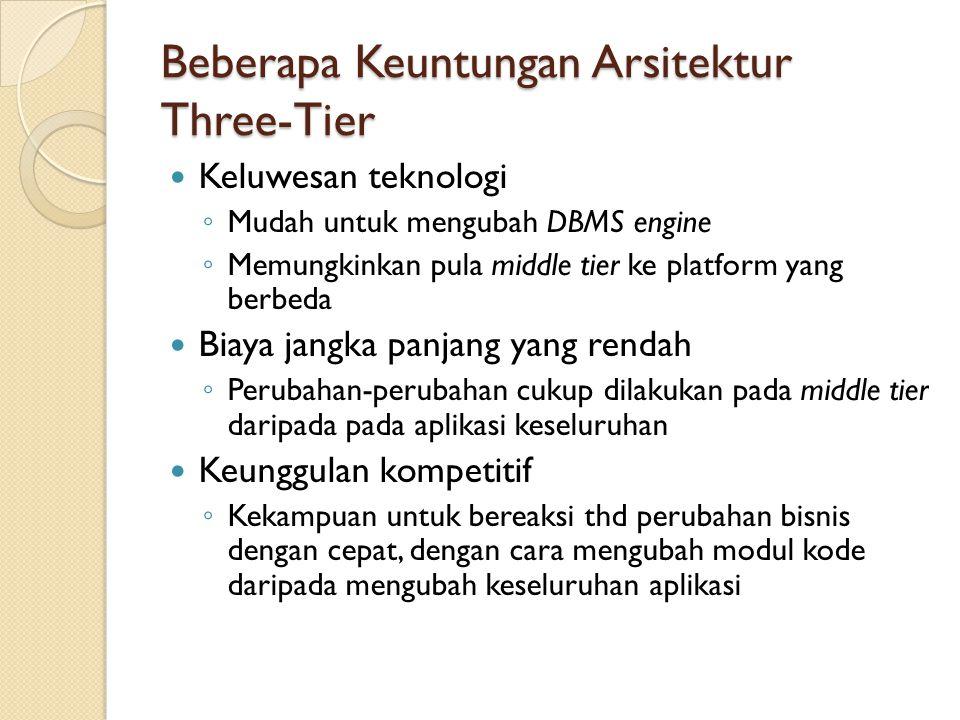Beberapa Keuntungan Arsitektur Three-Tier