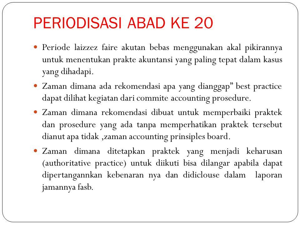 PERIODISASI ABAD KE 20