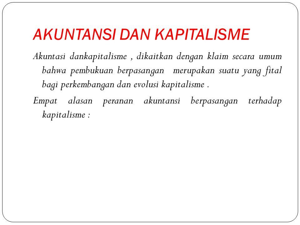 AKUNTANSI DAN KAPITALISME