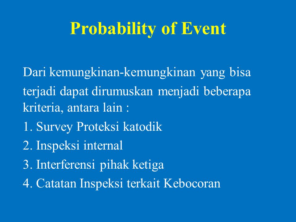 Probability of Event