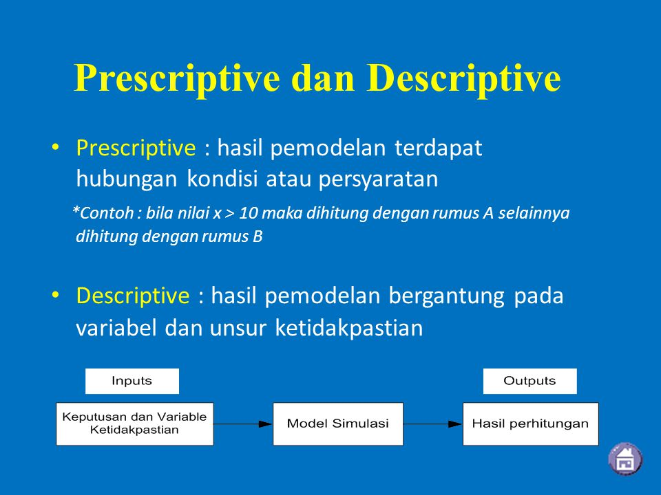 Prescriptive dan Descriptive
