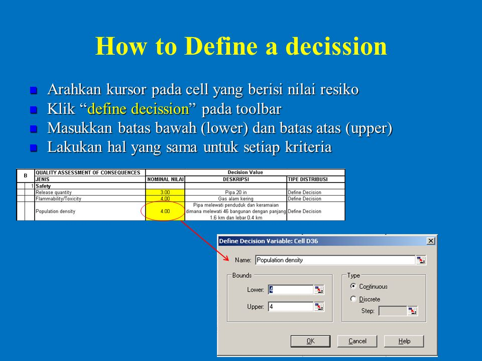 How to Define a decission