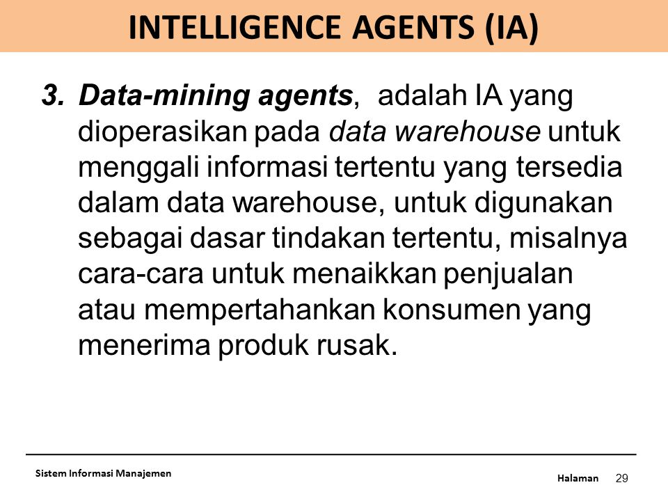 INTELLIGENCE AGENTS (IA)