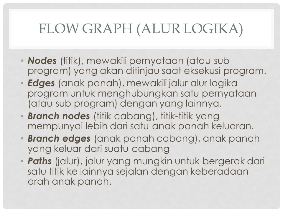 Flow Graph (alur Logika)