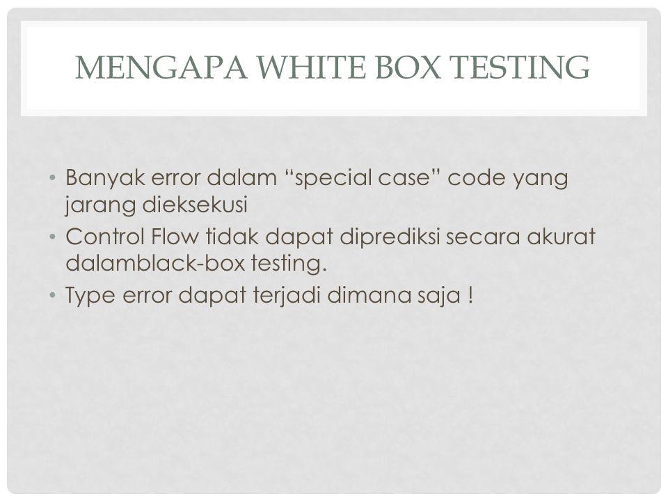 Mengapa white box testing