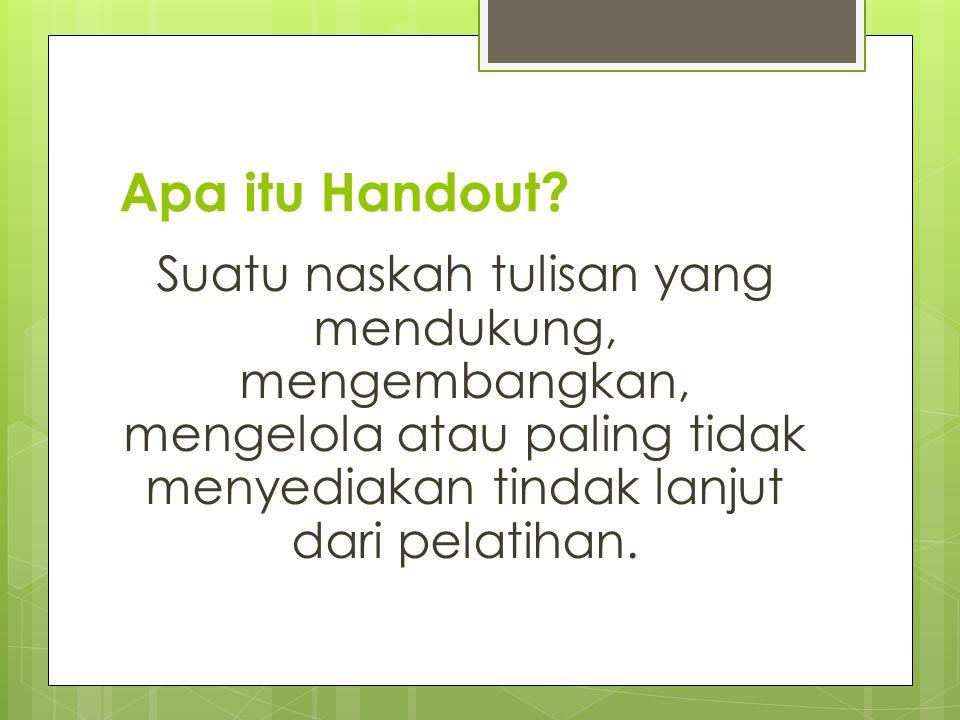 Apa itu Handout.