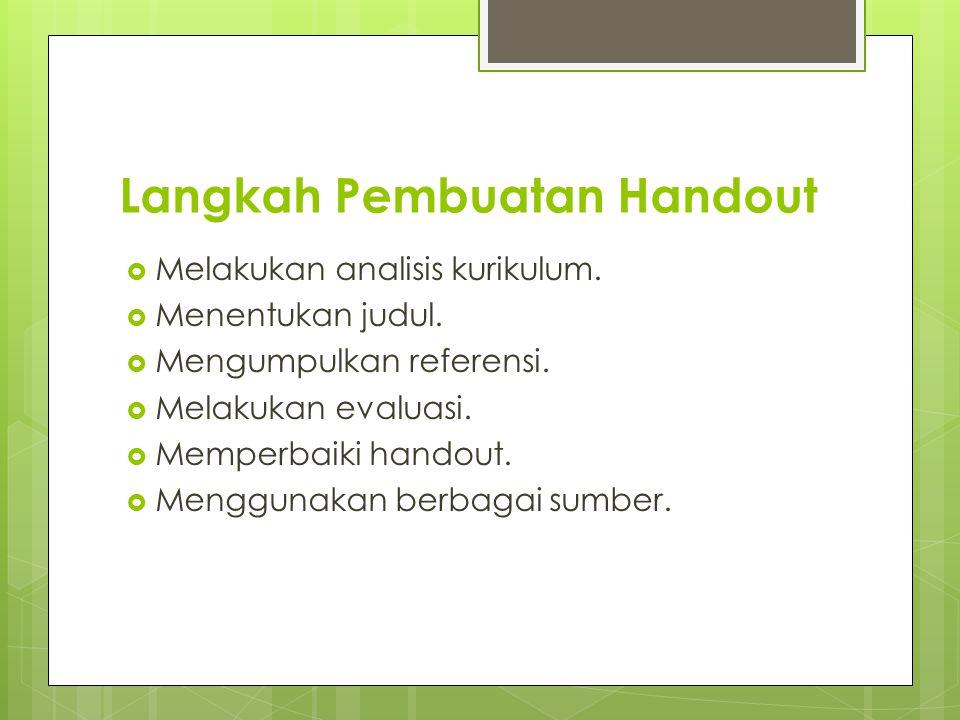 Langkah Pembuatan Handout