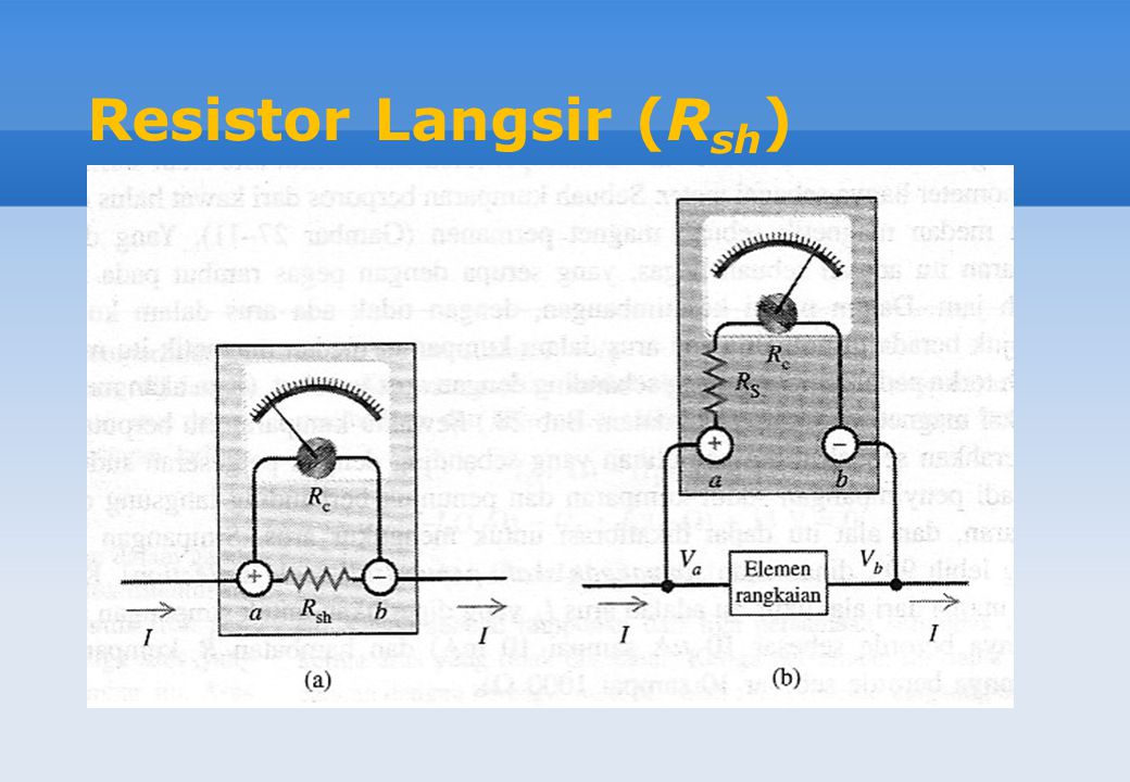 Resistor Langsir (Rsh)