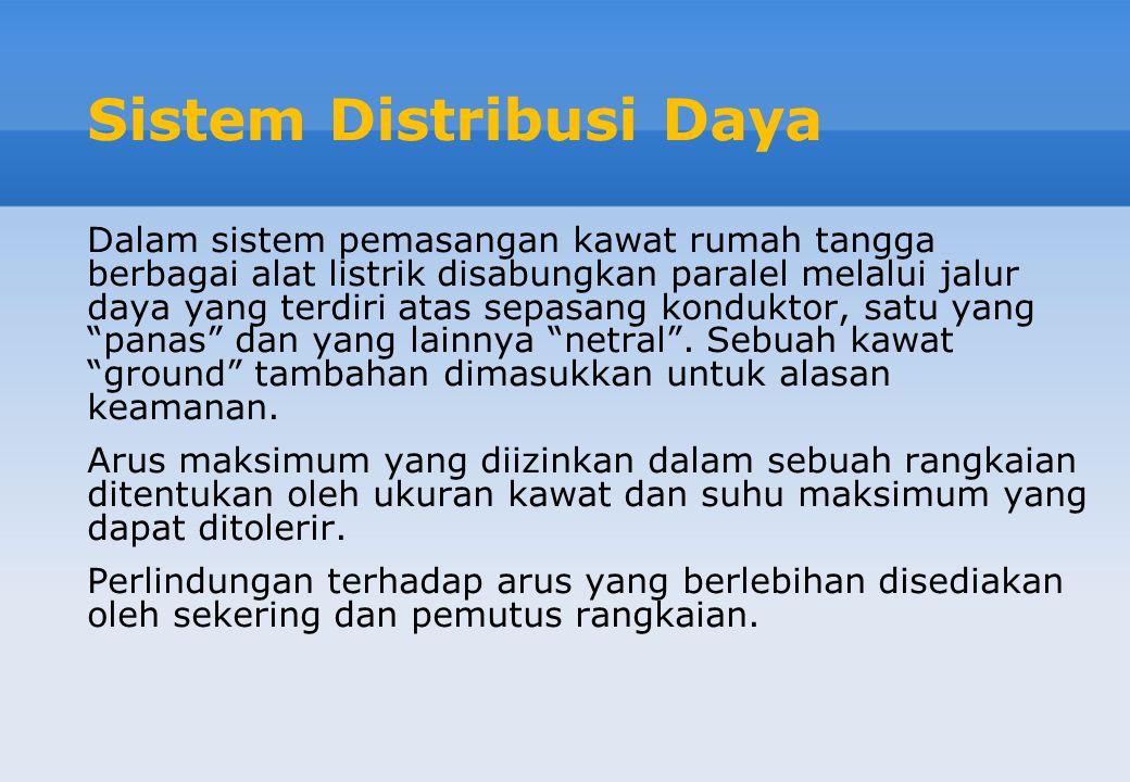 Sistem Distribusi Daya