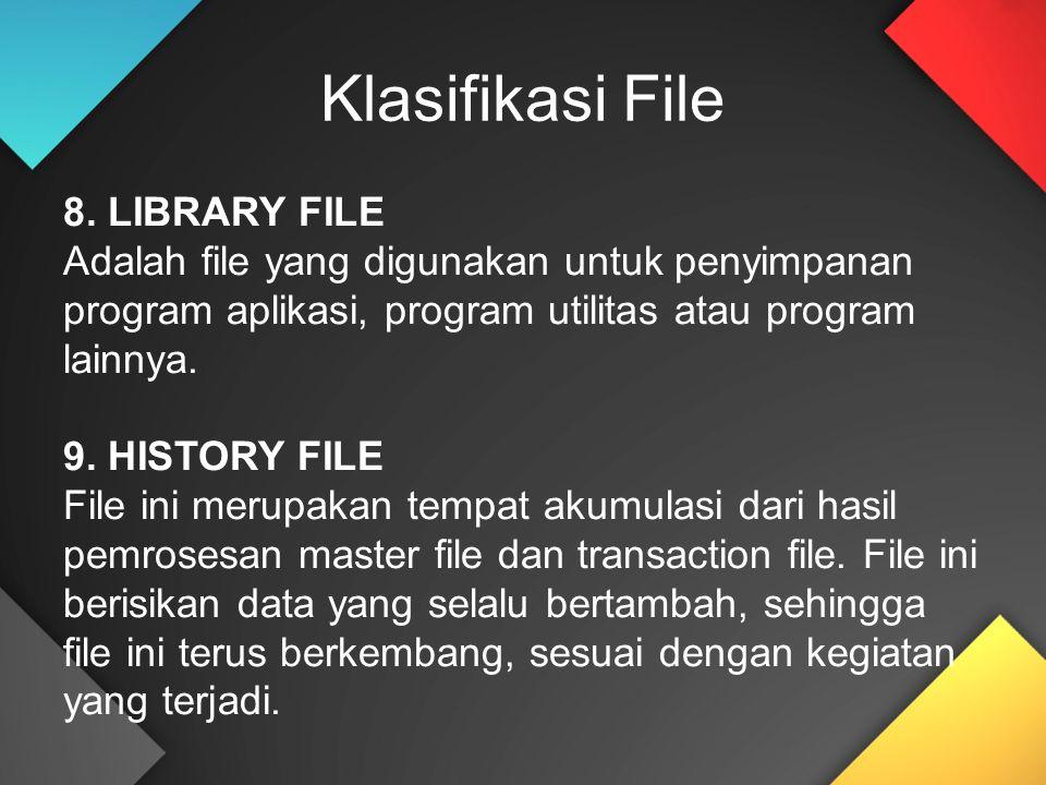 Klasifikasi File 8. LIBRARY FILE