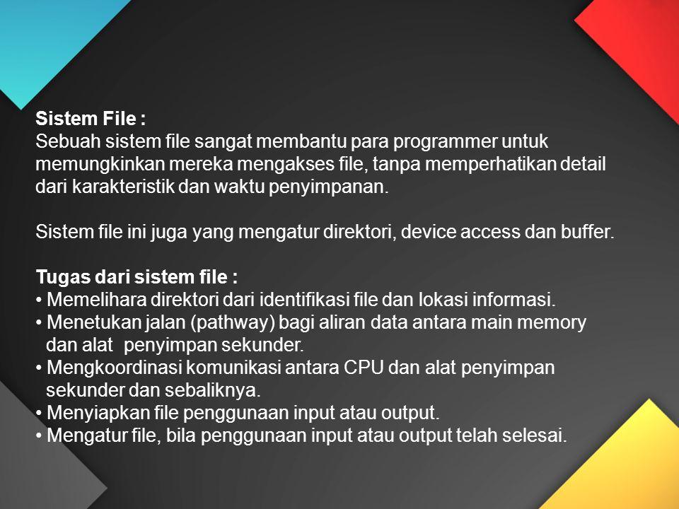 Sistem File :