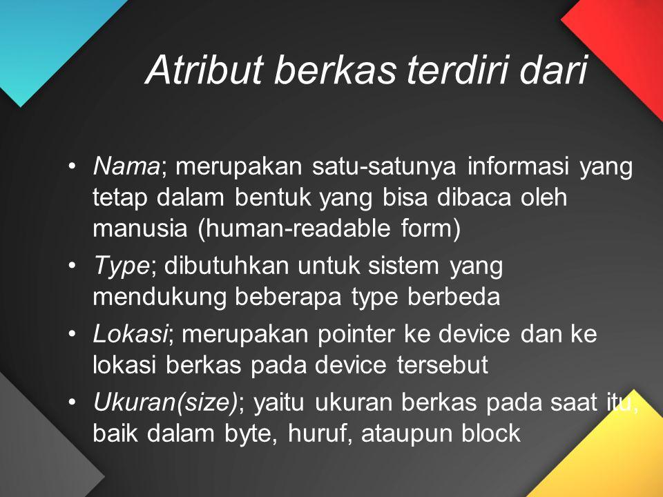 Atribut berkas terdiri dari