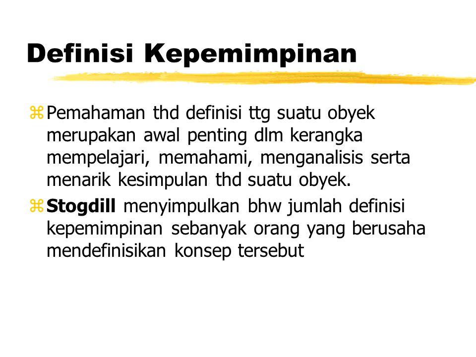 Definisi Kepemimpinan