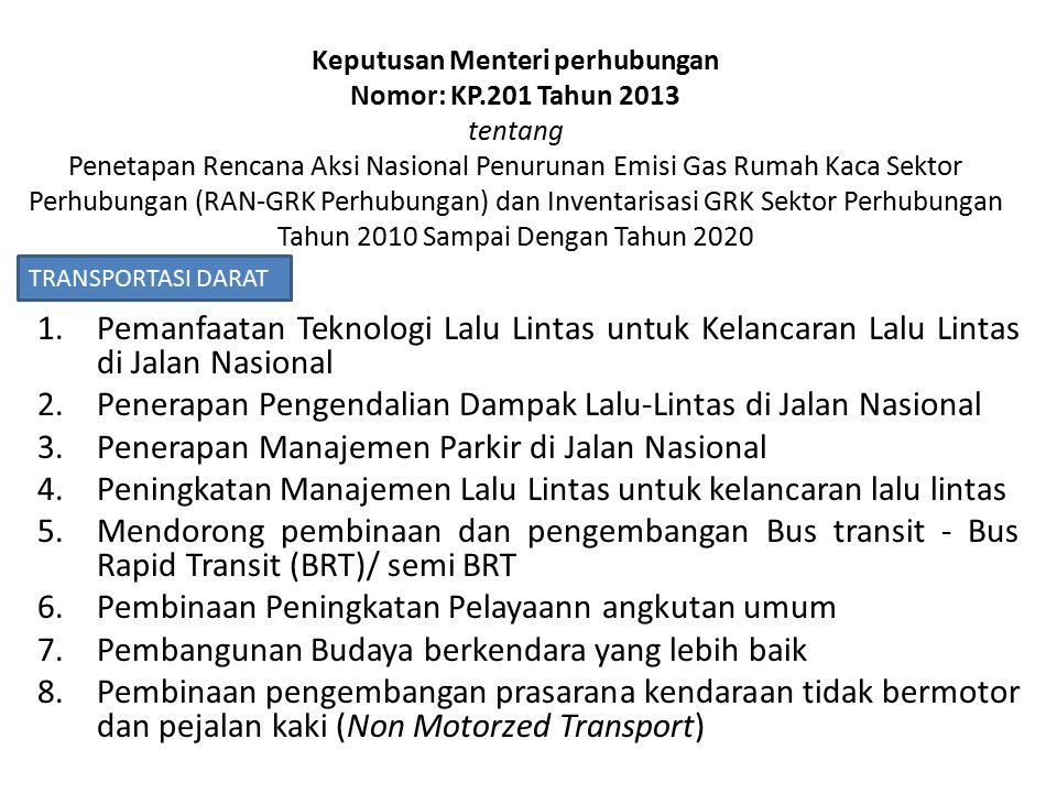 Penerapan Pengendalian Dampak Lalu-Lintas di Jalan Nasional