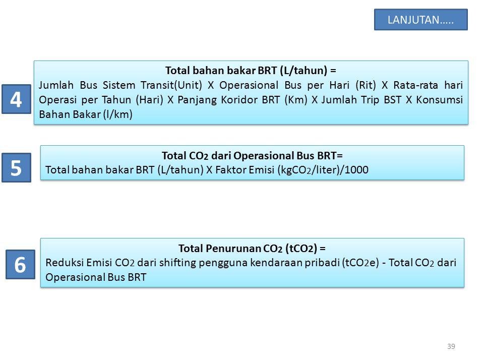 4 5 6 Total bahan bakar BRT (L/tahun) =