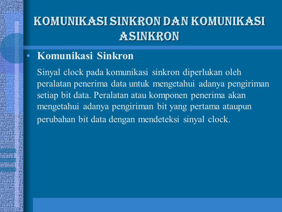 Komunikasi Sinkron dan Komunikasi Asinkron