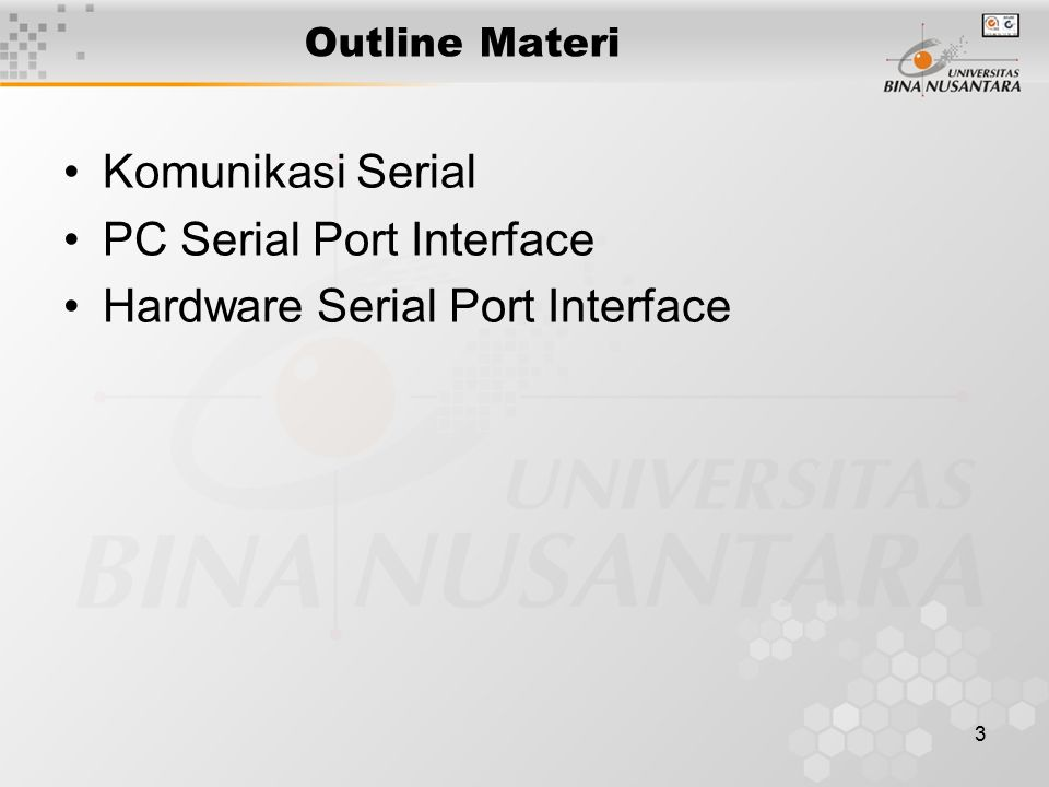 PC Serial Port Interface Hardware Serial Port Interface