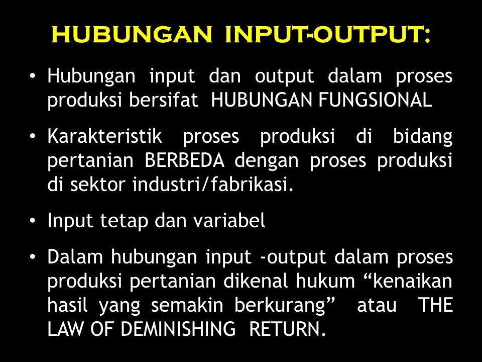 HUBUNGAN INPUT-OUTPUT:
