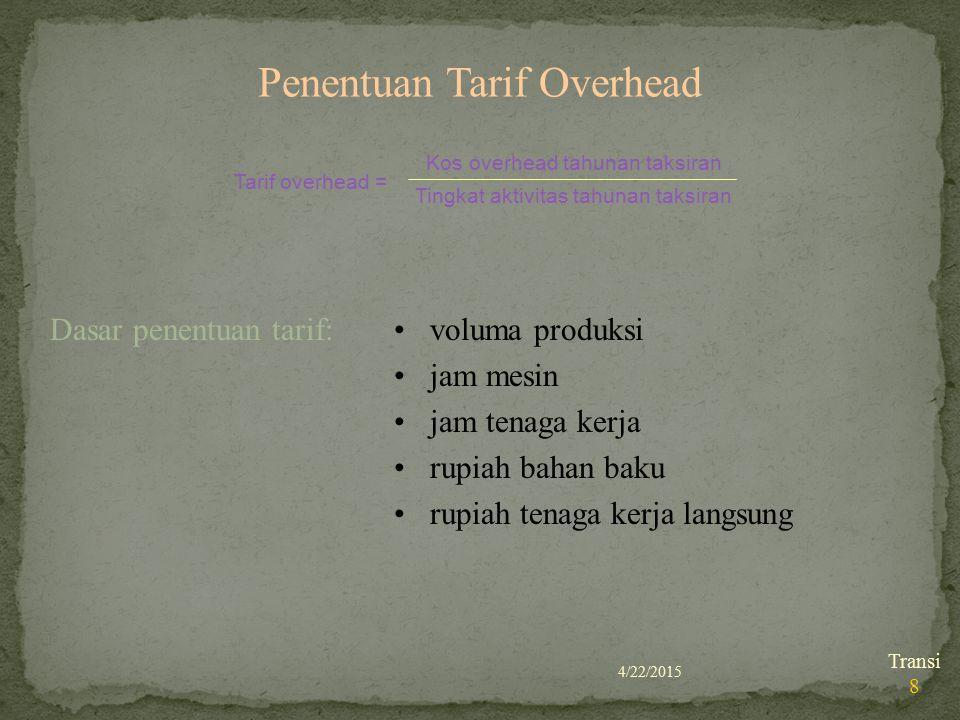 Penentuan Tarif Overhead