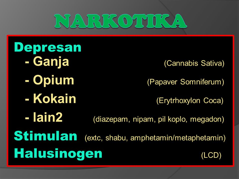 Narkotika Depresan - Ganja (Cannabis Sativa)