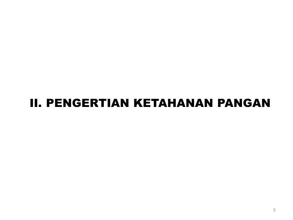 II. PENGERTIAN KETAHANAN PANGAN