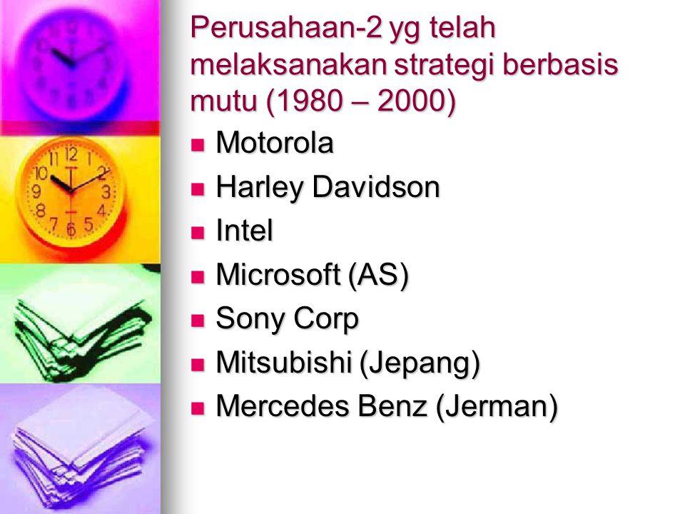 Perusahaan-2 yg telah melaksanakan strategi berbasis mutu (1980 – 2000)