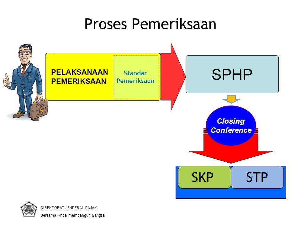Proses Pemeriksaan SPHP SKP STP PELAKSANAAN PEMERIKSAAN Closing