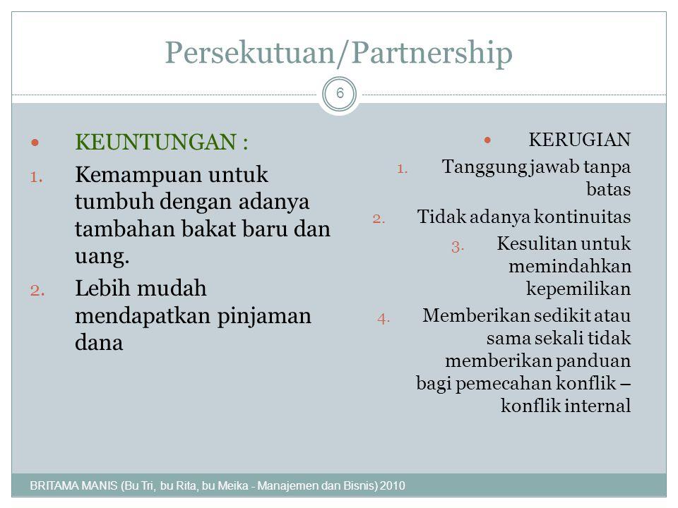 Persekutuan/Partnership