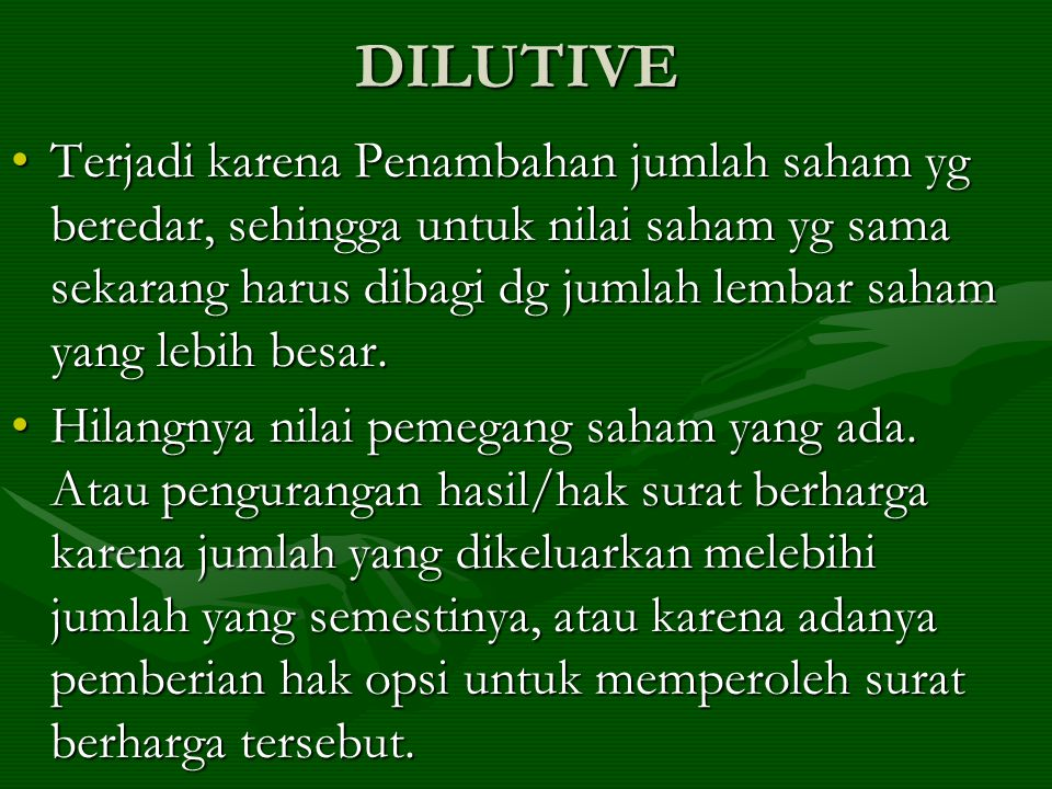 DILUTIVE