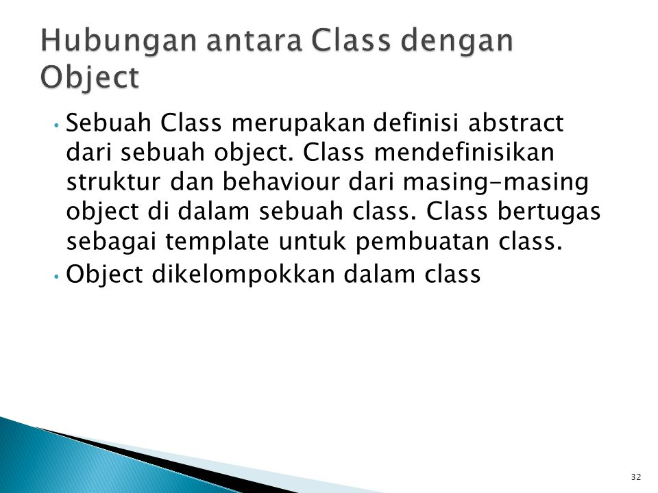 Hubungan antara Class dengan Object