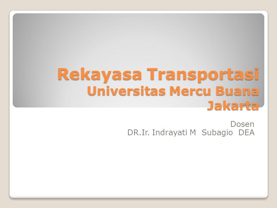 Rekayasa Transportasi Universitas Mercu Buana Jakarta