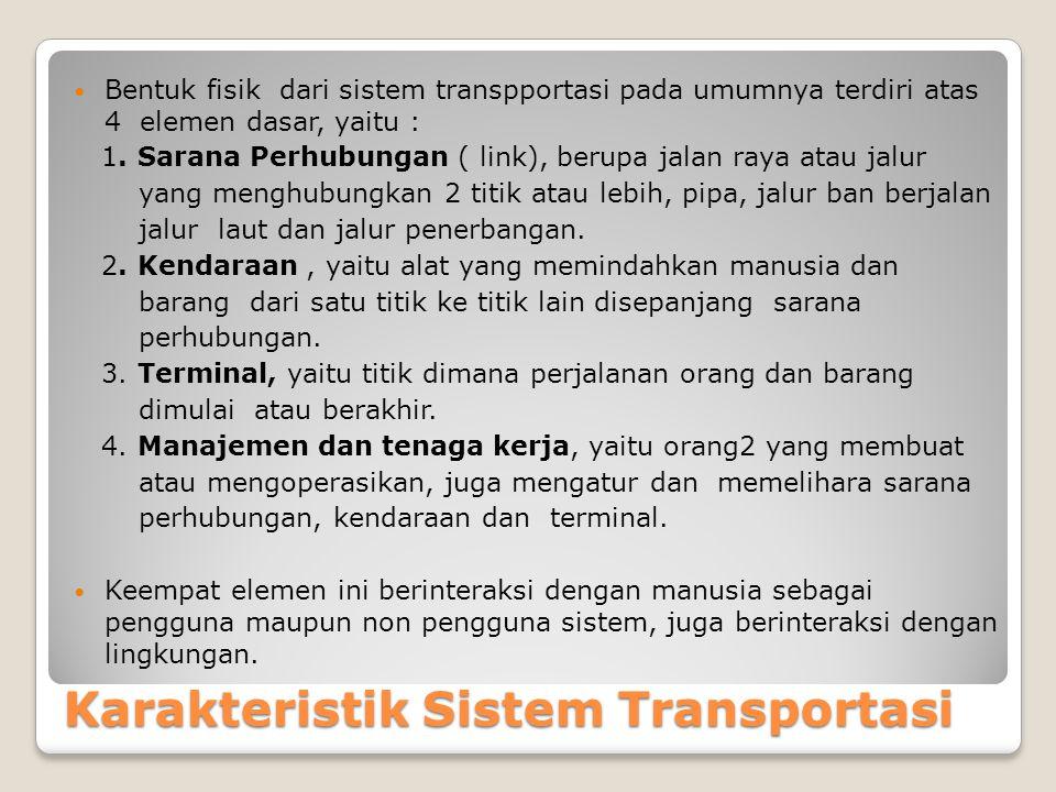 Karakteristik Sistem Transportasi