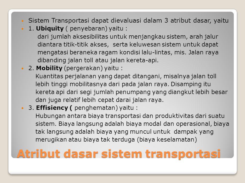 Atribut dasar sistem transportasi