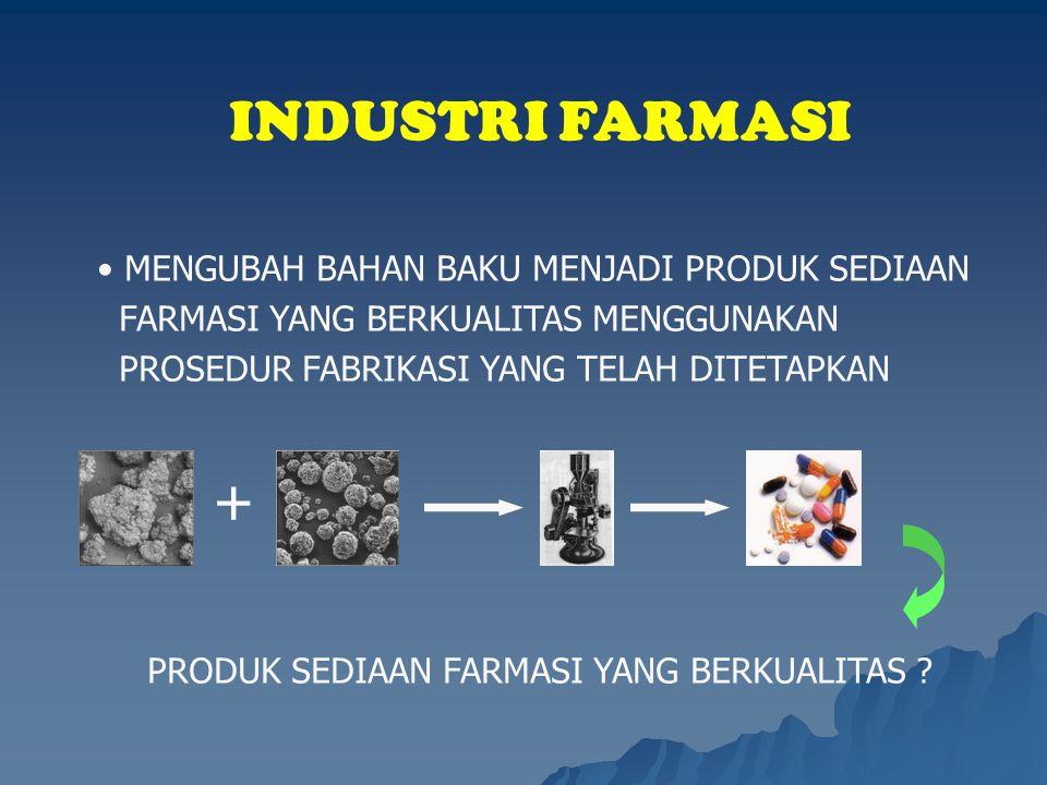 PRODUK SEDIAAN FARMASI YANG BERKUALITAS
