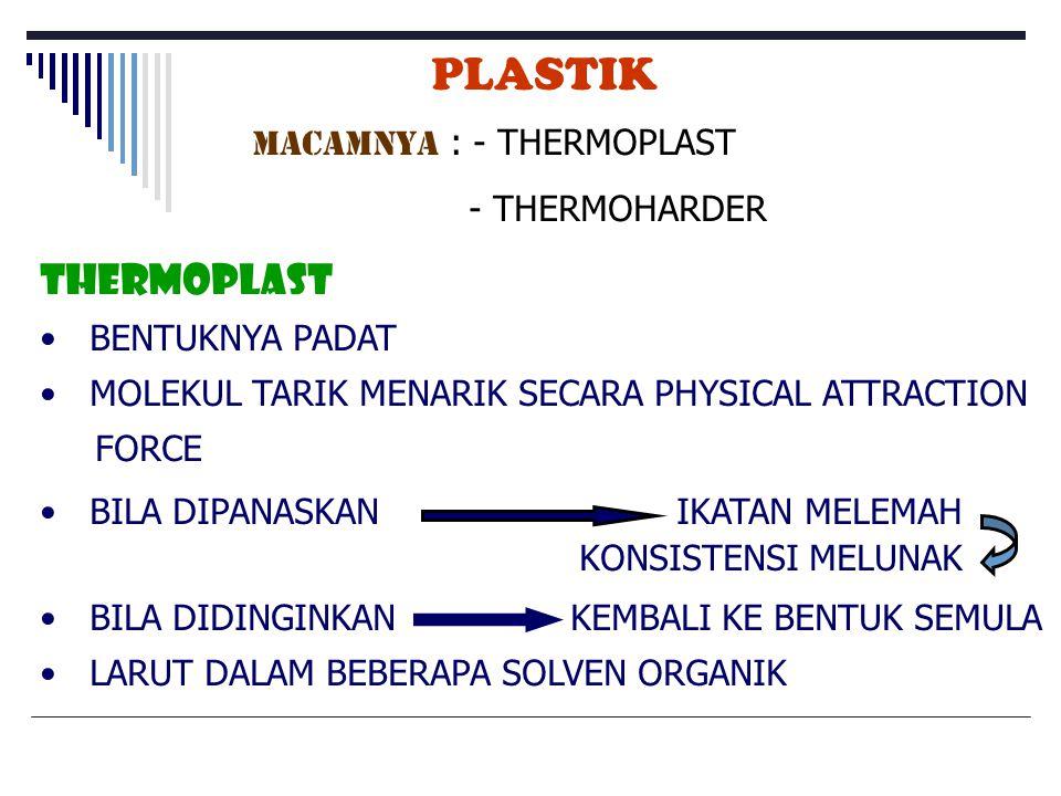 PLASTIK THERMOPLAST MACAMNYA : - THERMOPLAST - THERMOHARDER