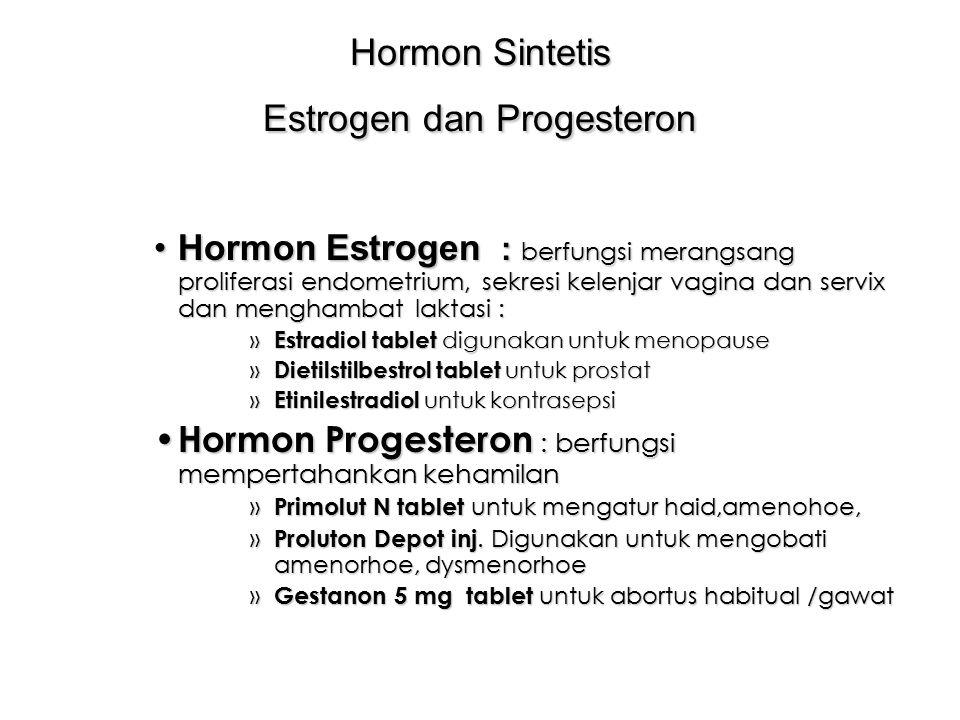 Hormon Sintetis Estrogen dan Progesteron