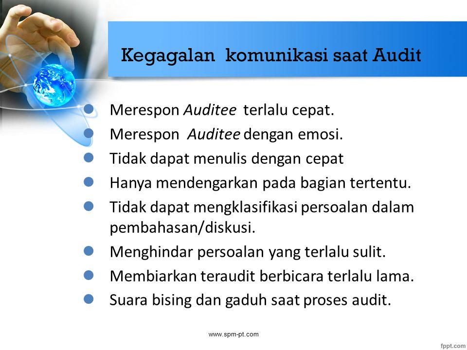 Kegagalan komunikasi saat Audit