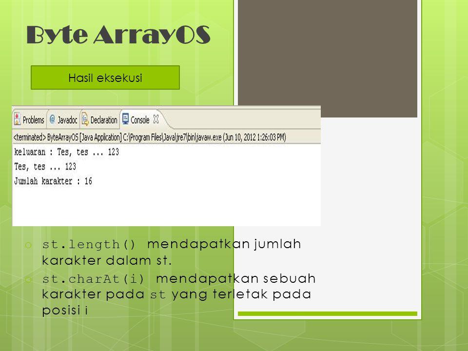 Byte ArrayOS st.length() mendapatkan jumlah karakter dalam st.