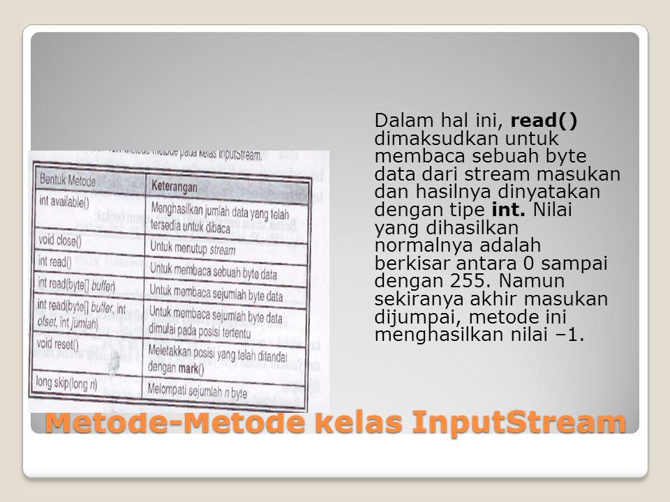 Metode-Metode kelas InputStream