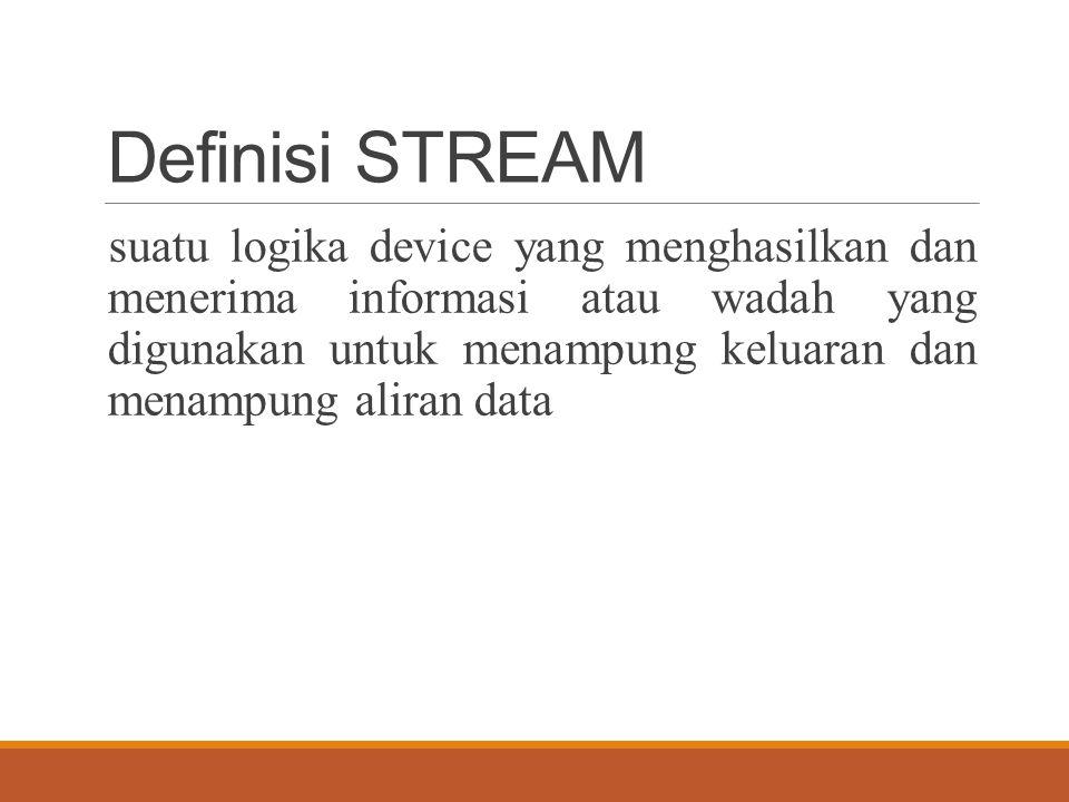 Definisi STREAM