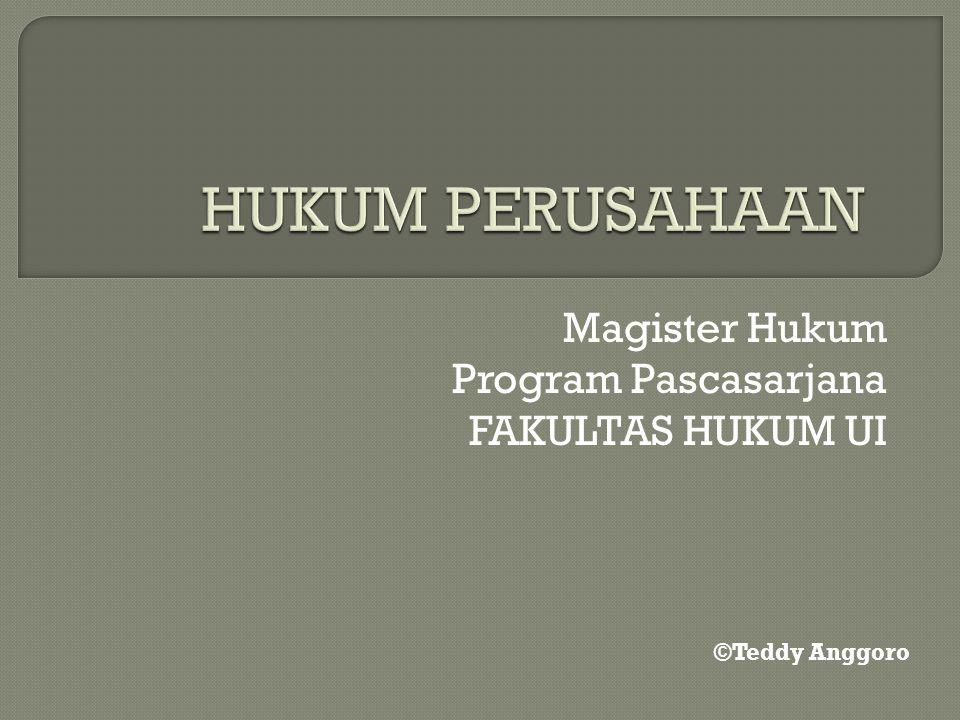 Magister Hukum Program Pascasarjana FAKULTAS HUKUM UI