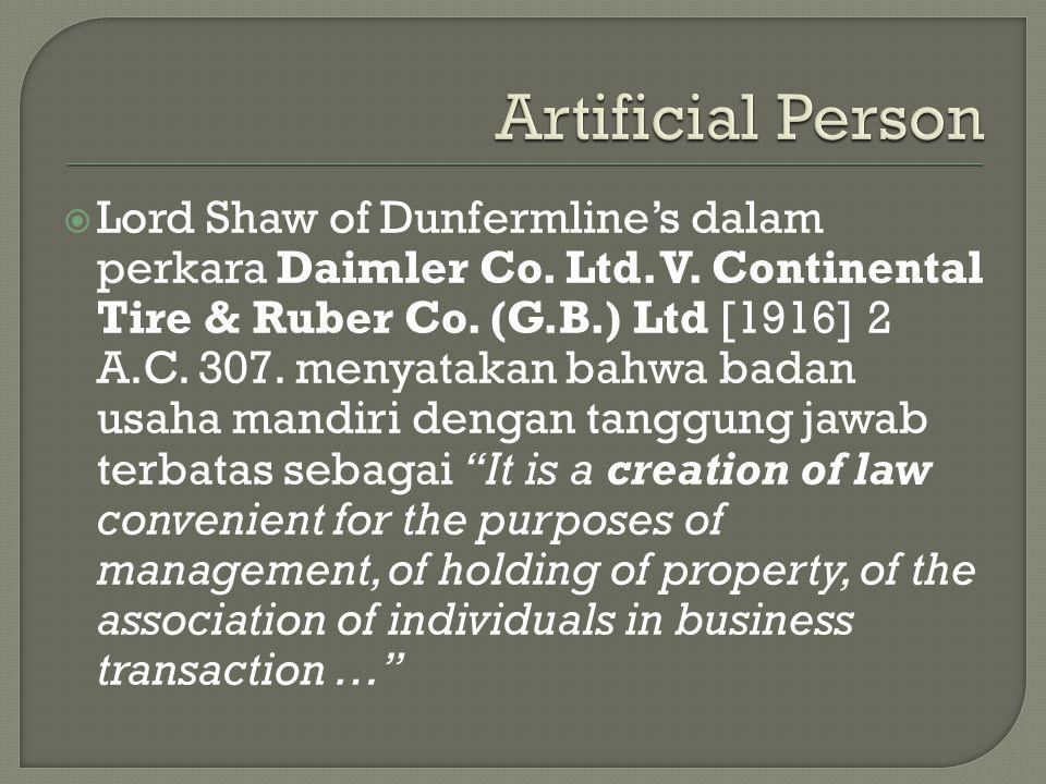Artificial Person