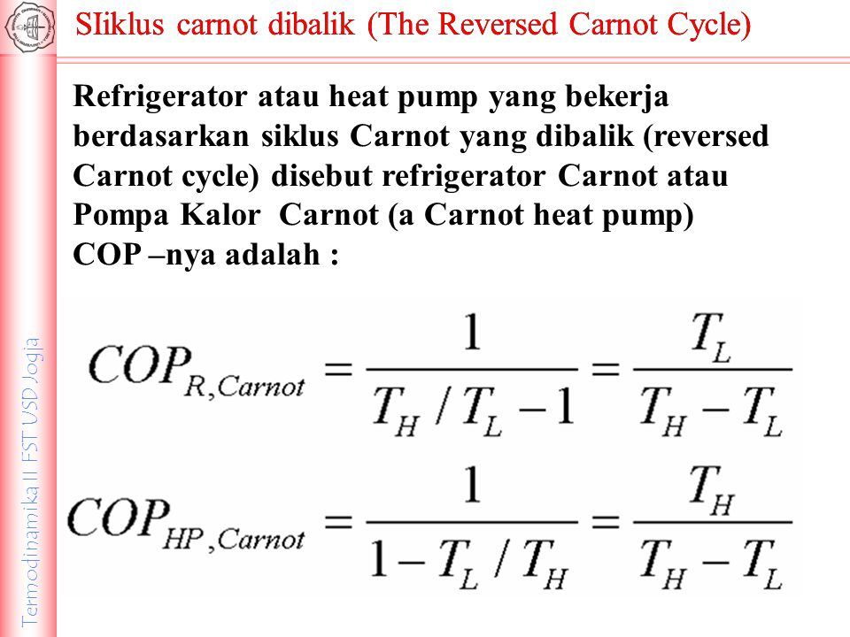 SIiklus carnot dibalik (The Reversed Carnot Cycle)