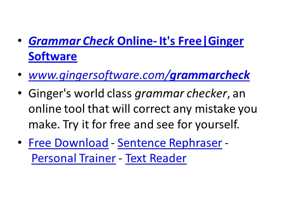 Grammar Check Online- It s Free|Ginger Software