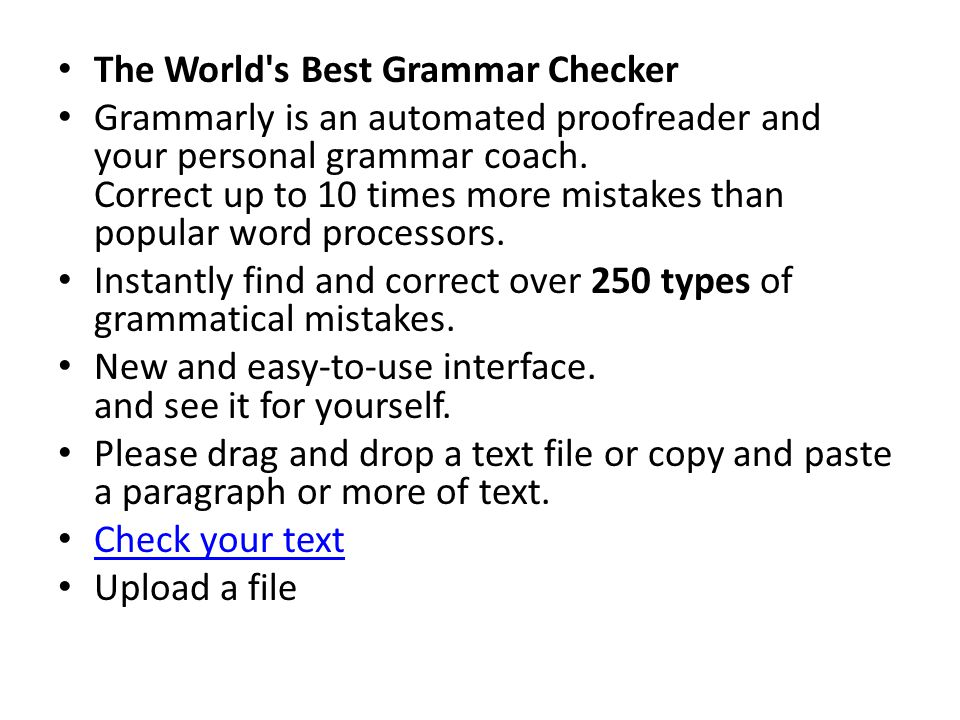 The World s Best Grammar Checker
