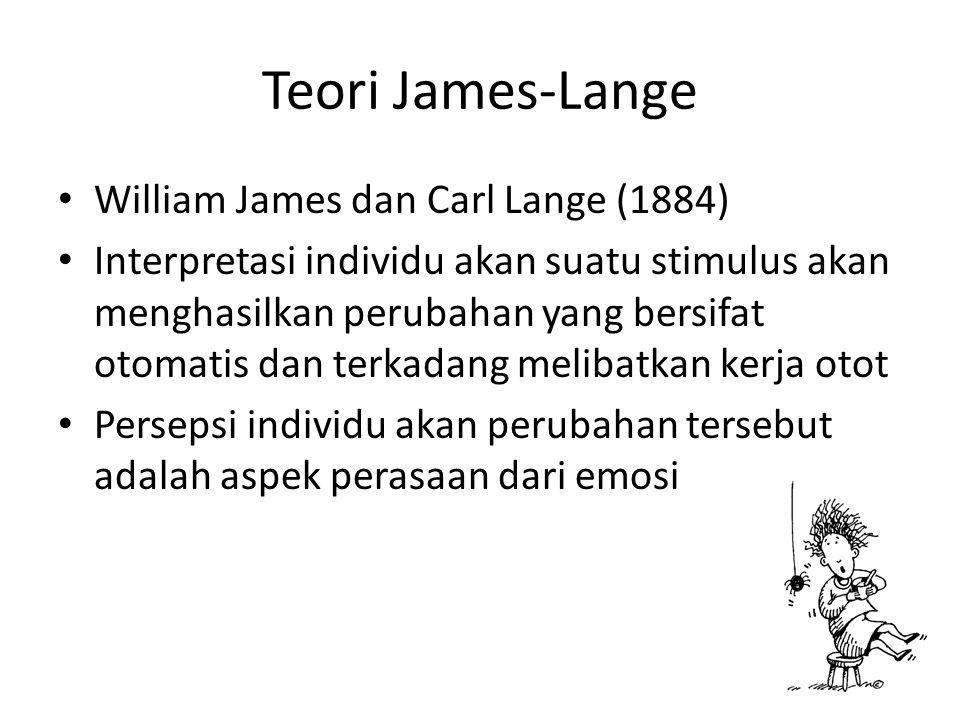 Teori James-Lange William James dan Carl Lange (1884)
